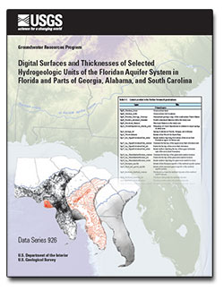 Digital surfaces and thicknesses of selected hydrogeologic units of the Floridan aquifer system in Florida and parts of Georgia, Alabama, and South Carolina