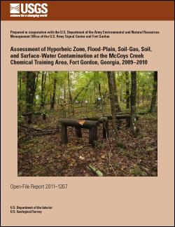 Assessment of Hyporheic Zone, Flood-Plain, Soil-Gas, Soil, and Surface-Water Contamination at the McCoys Creek Chemical Training Area, Fort Gordon, Georgia, 2009-2010