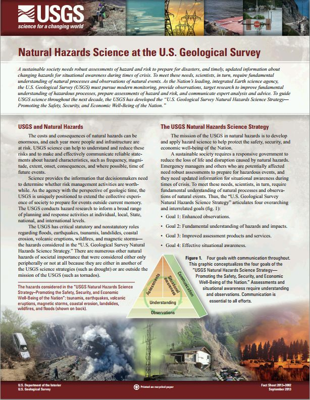 Natural Hazards Science at the U.S. Geological Survey