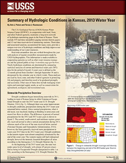 Summary of hydrologic conditions in Kansas, 2013 water year