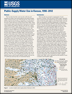 Public-supply water use in Kansas, 1990-2012