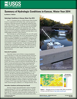 Summary of hydrologic conditions in Kansas, water year 2014