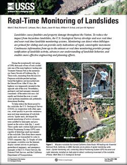Real-time monitoring of landslides