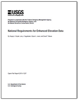 National requirements for improved elevation data