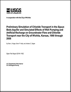 Preliminary simulation of chloride transport in the <i>Equus</i> Beds aquifer and simulated effects of well pumping and artificial recharge on groundwater flow and chloride transport near the city of Wichita, Kansas, 1990 through 2008