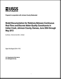 Model documentation for relations between continuous real-time and discrete water-quality constituents in Indian Creek, Johnson County, Kansas, June 2004 through May 2013