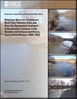 Relations between continuous real-time turbidity data and discrete suspended-sediment concentration samples in the Neosho and Cottonwood Rivers, east-central Kansas, 2009-2012