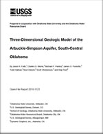 Three-dimensional geologic model of the Arbuckle-Simpson aquifer, south-central Oklahoma