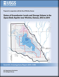 Status of groundwater levels and storage volume in the <i>Equus</i> Beds aquifer near Wichita, Kansas, 2012 to 2014