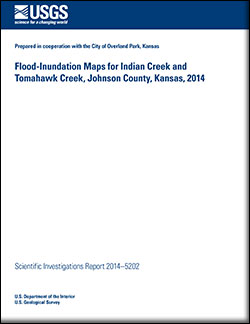 Flood-inundation maps for Indian Creek and Tomahawk Creek, Johnson County, Kansas, 2014