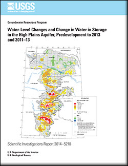 Water-level changes and change in water in storage in the High Plains aquifer, predevelopment to 2013 and 2011-13